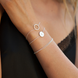 Circle of joy armband - zilver