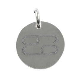 Kreeft zodiac  sign - zilver