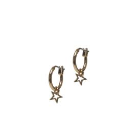 Open star oorbellen - goud