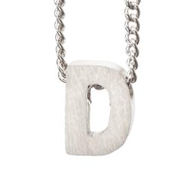 Bedel letter D - zilver