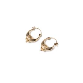 Bohemian oorbellen goud