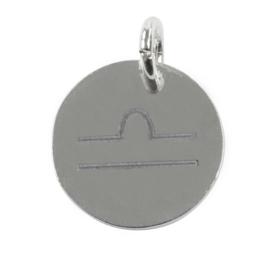 Weegschaal zodiac sign - zilver
