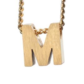 Bedel letter M - goud