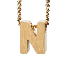 Bedel letter N - goud