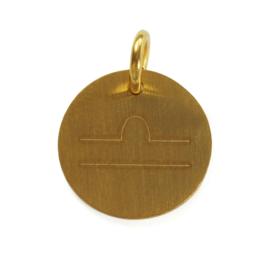 Weegschaal zodiac sign - goud