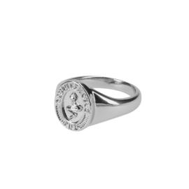Snake signet ring zilver