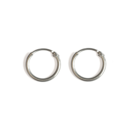 Little ear hoops - zilver