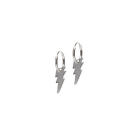 Lightning bolt oorbellen - zilver