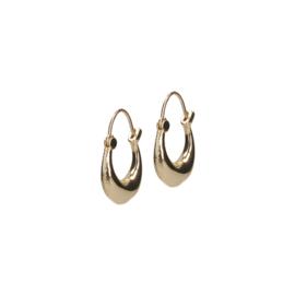 Clean oorbellen goud