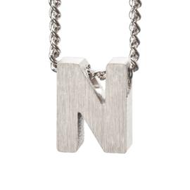 Bedel letter N - zilver