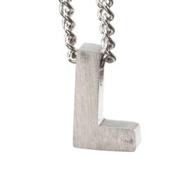 Bedel letter L - zilver
