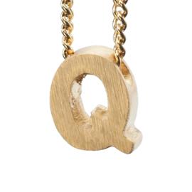 Bedel letter Q - goud