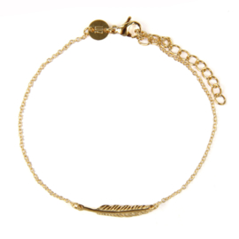 Feather armband - goud