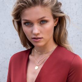 V necklace - zilver