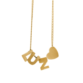 Bedel letter H - goud