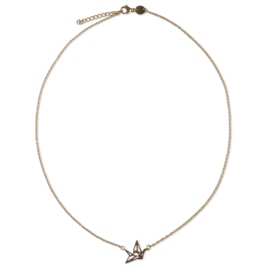 Origami bird necklace - goud