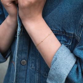 Zirkonia stone armband zilver