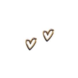 Oorbellen met hartje goud