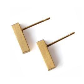 Bar oorstekers - goud