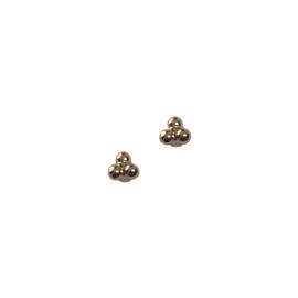 Tripple dot oorbellen - goud