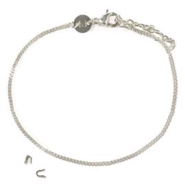 Basis armband - zilver