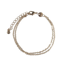 Double chain armbandje - goud