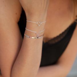 V armband - zilver