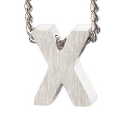 Bedel letter X - zilver