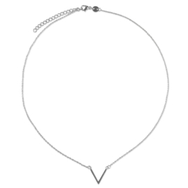 V necklace - zilver