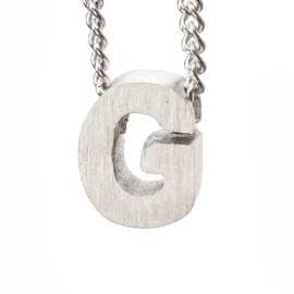 Bedel letter G - zilver