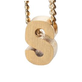 Bedel letter S - goud