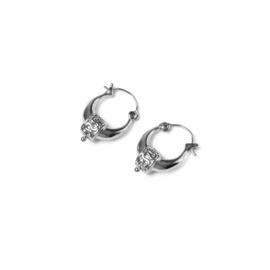 Bohemian oorbellen zilver