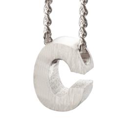 Bedel letter C - zilver