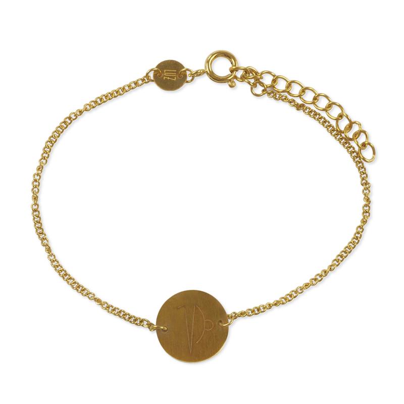 Sterrenbeeld armband steenbok - goud