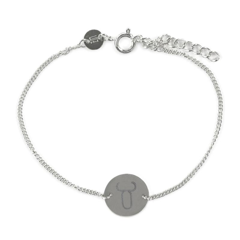 Sterrenbeeld armband stier - zilver