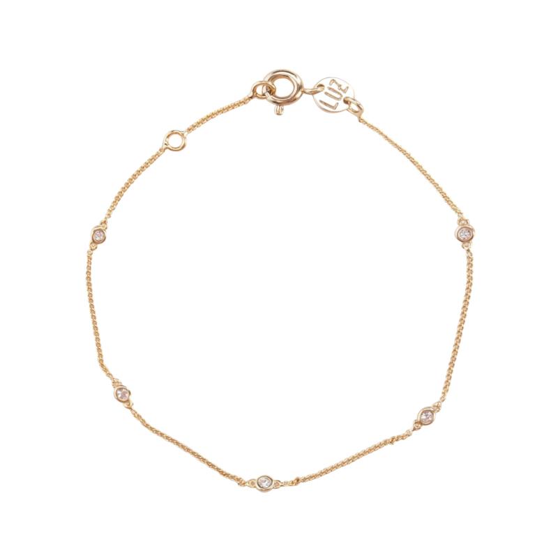 Zirkonia stone armband goud
