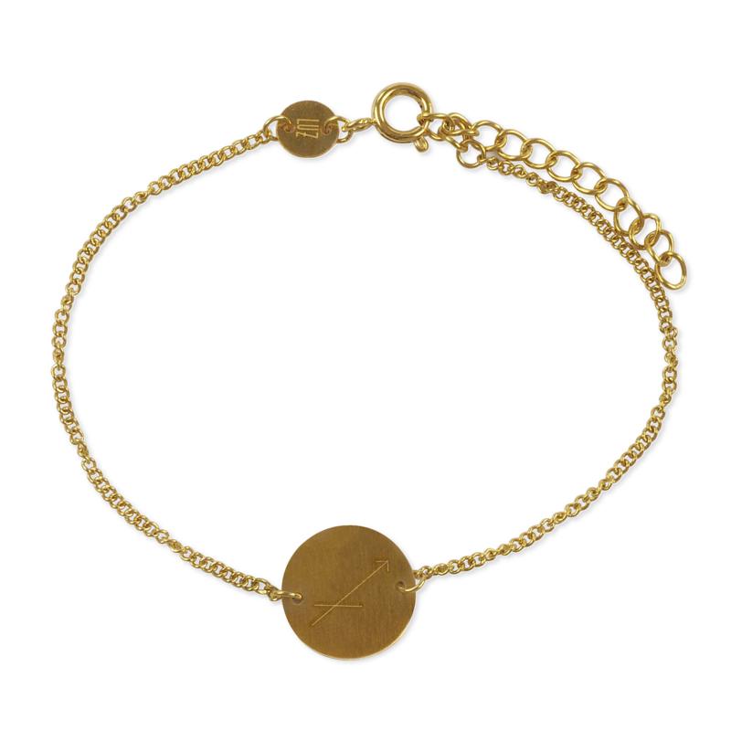 Sterrenbeeld armband boogschutter - goud