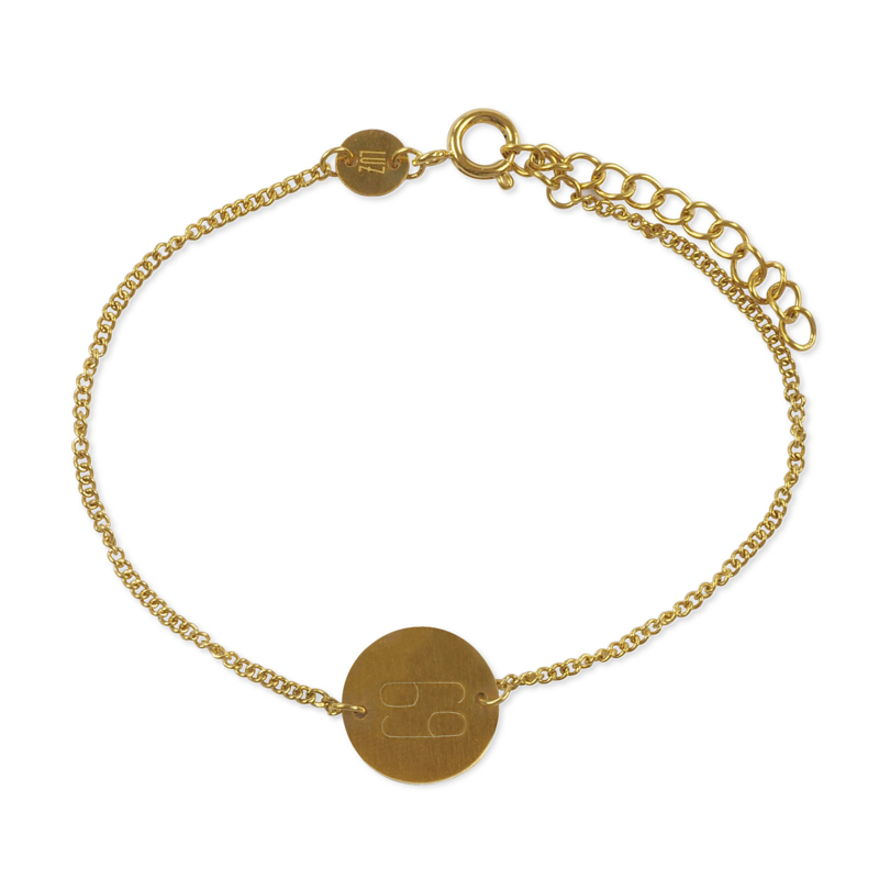 Sterrenbeeld armband kreeft - goud