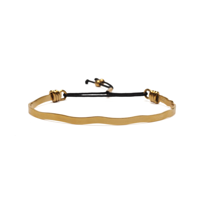 Delicate cuff armband - goud