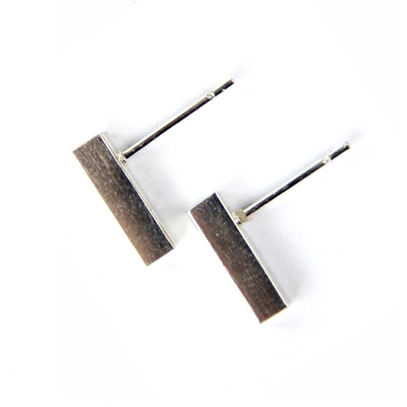 Bar oorstekers - zilver