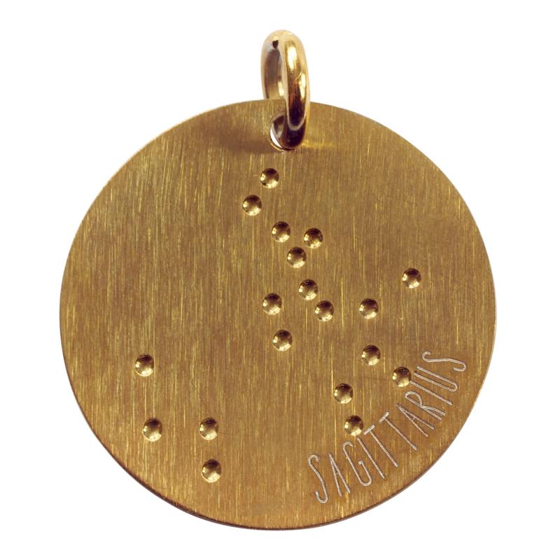 Boogschut zodiac sky - goud