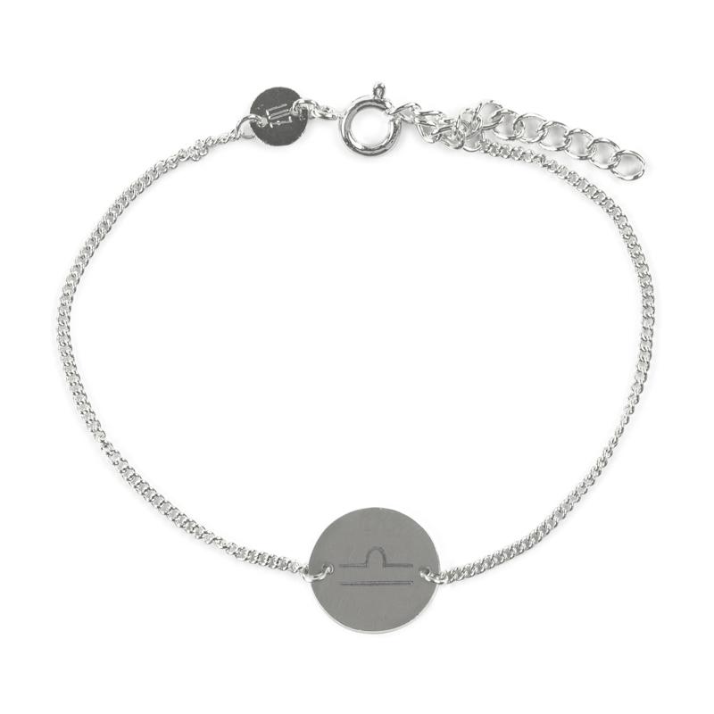 Sterrenbeeld armband weegschaal - zilver