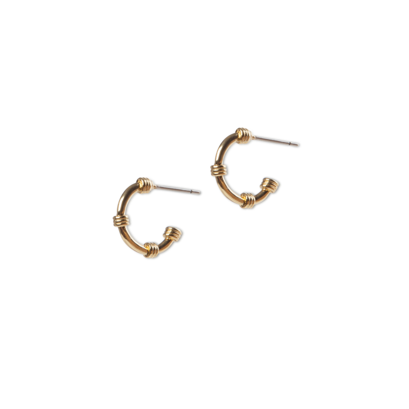 Nautic earhoops goud