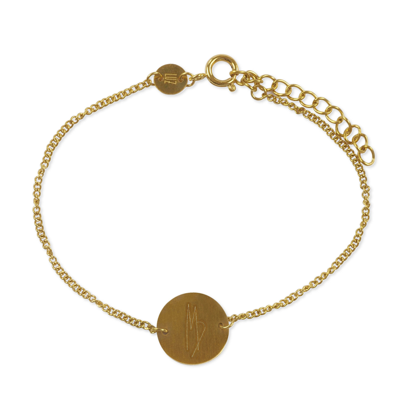 Sterrenbeeld armband maagd - goud