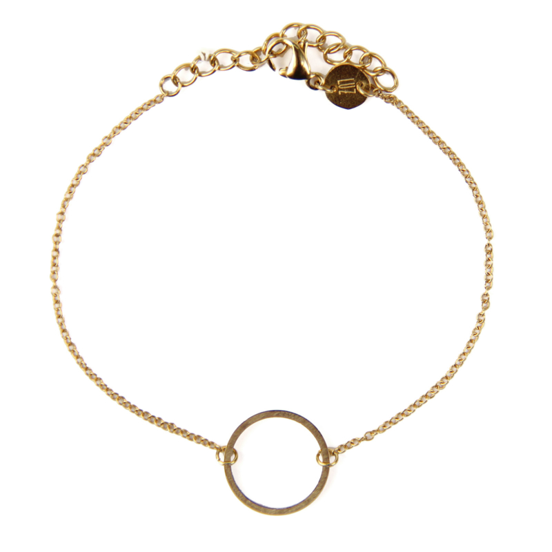 Circle of joy armband - goud