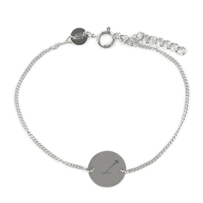 Sterrenbeeld armband boogschutter - zilver