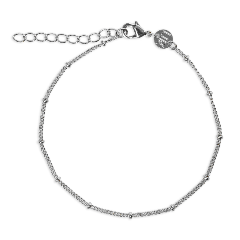 Armband met dots zilver
