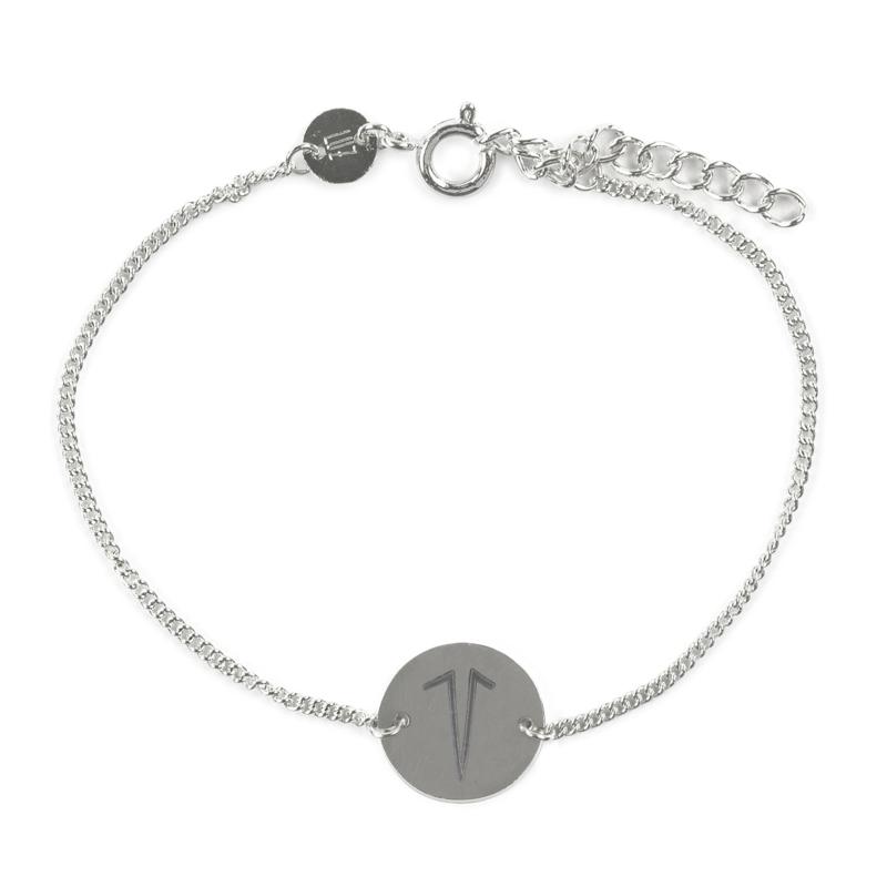 Sterrenbeeld armband ram - zilver