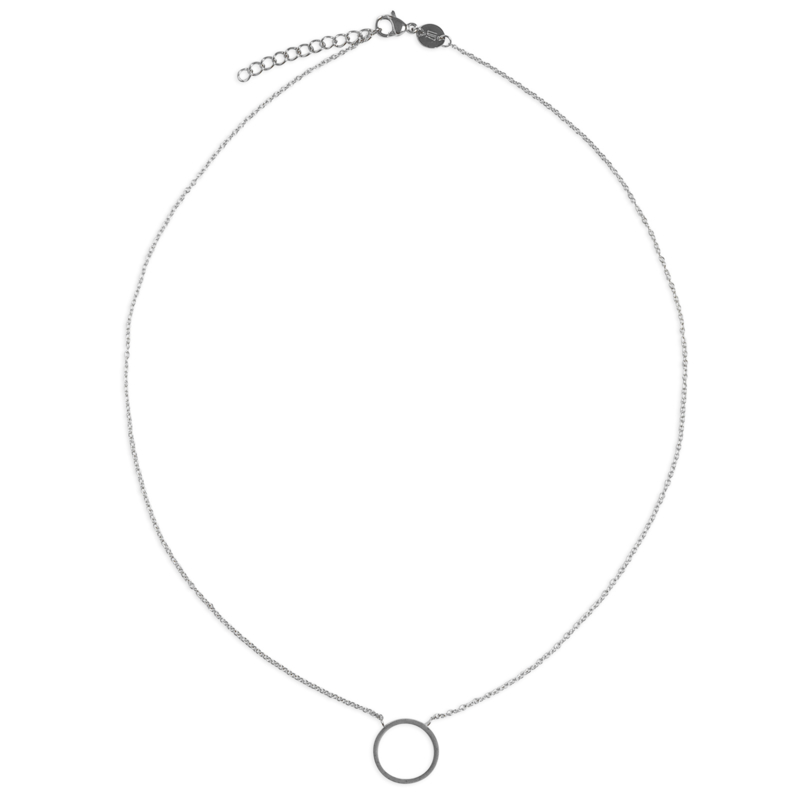 Circle of joy necklace - zilver