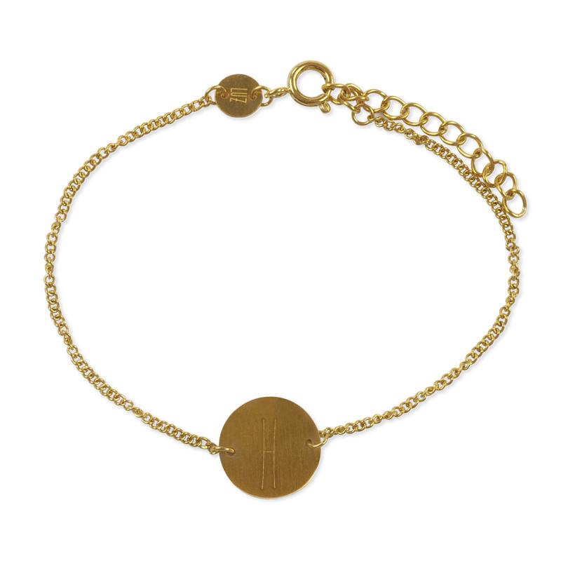 Sterrenbeeld armband vissen - goud
